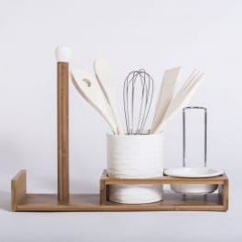Bamboo Kitchen Utensils Holders